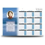 Sea Hills Clouds Co Limerick Calendar Single Page
