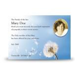 Dandelion Acknowledgement Card