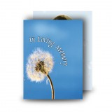 Dandelion Standard Memorial Card