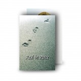 Footsteps In The Sand Wallet Card