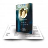 Blue Tulips Funeral Book