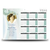 Blue Tulips Calendar Single Page
