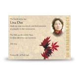Tree Seasons Acknowledgement Card