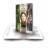 Tree Seasons Funeral Book