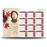 Tree Seasons Calendar Single Page