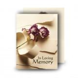 A Softer Paper Standard Memorial Card