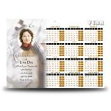 Musicians Memories Calendar Single Page