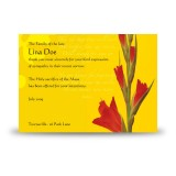 Late Spring Gladioli Acknowledgement Card