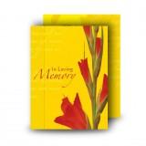 Late Spring Gladioli Standard Memorial Card