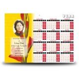 Late Spring Gladioli Calendar Single Page