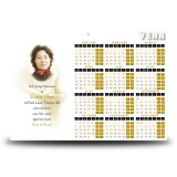 White Peace Lily Calendar Single Page