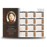 Paper Rose Calendar Single Page