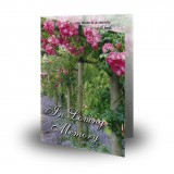 A Gardeners Paradise Folded Memorial Card
