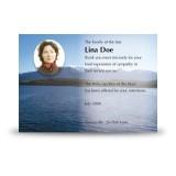 Canadian Mountain Scene Acknowledgement Card