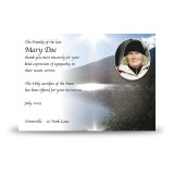 Andes Mountains South America Acknowledgement Card