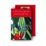 Stained Glass Flowers Wallet Card
