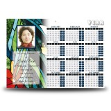 Stained Glass Flowers Calendar Single Page