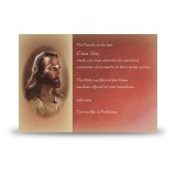 Image of Jesus Christ Acknowledgement Card