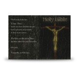 Holy Bible Acknowledgement Card