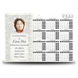 Holy Bible Calendar Single Page