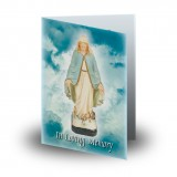 Our Lady Folded Memorial Card