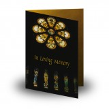 Stained Glass Church Folded Memorial Card