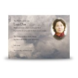 Cross Amid Clouds Acknowledgement Card