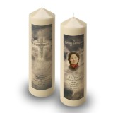Cross Amid Clouds Candle