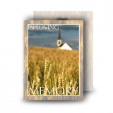 Montana USA Standard Memorial Card