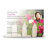 Spring Flowers Acknowledgement Card