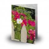 Spring Flowers Folded Memorial Card