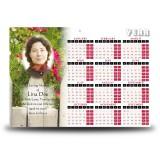 Spring Flowers Calendar Single Page