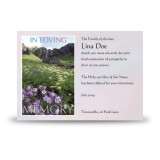Flowers Field Mountains Acknowledgement Card