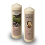 Flowers Field Mountains Candle