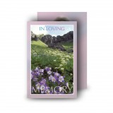 Flowers Field Mountains Wallet Card