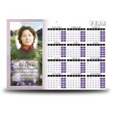 Flowers Field Mountains Calendar Single Page