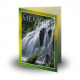 Flowing Cascade Folded Memorial Card