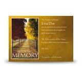 Autumn Walkway Acknowledgement Card