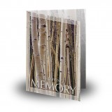 Birches Folded Memorial Card