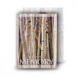 Birches Standard Memorial Card