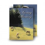 Grazing Horses Standard Memorial Card