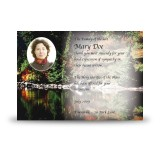 Tranquility Acknowledgement Card