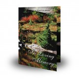 Tranquility Folded Memorial Card