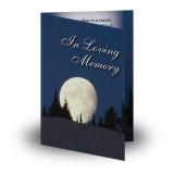 Full Moon Folded Memorial Card
