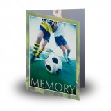 Football Folded Memorial Card