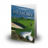 Golf Green Folded Memorial Card