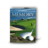 Golf Green Standard Memorial Card