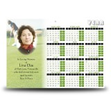 Golf Green Calendar Single Page