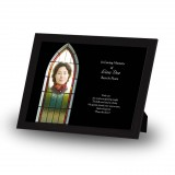 Stained Glass Window Framed Memory