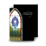 Stained Glass Window Standard Memorial Card